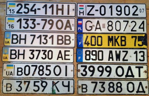 Автомобільні номери, європейський зразок