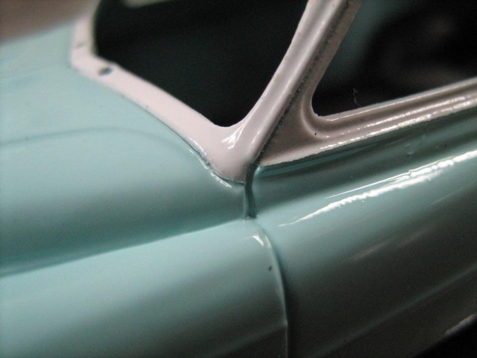 TMTmodels, майстерня, ГАЗ-12 ЗиМ купе, розфарбування моделі
