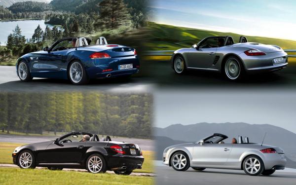 фото Mercedes-Benz SLK, Audi TT, Porsche Boxter, BMW Z4