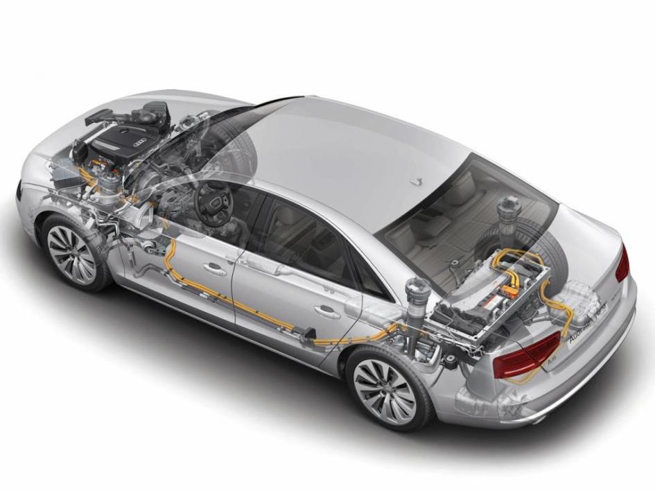 фото двигуна Audi A8, гібрид, engine, hybrid