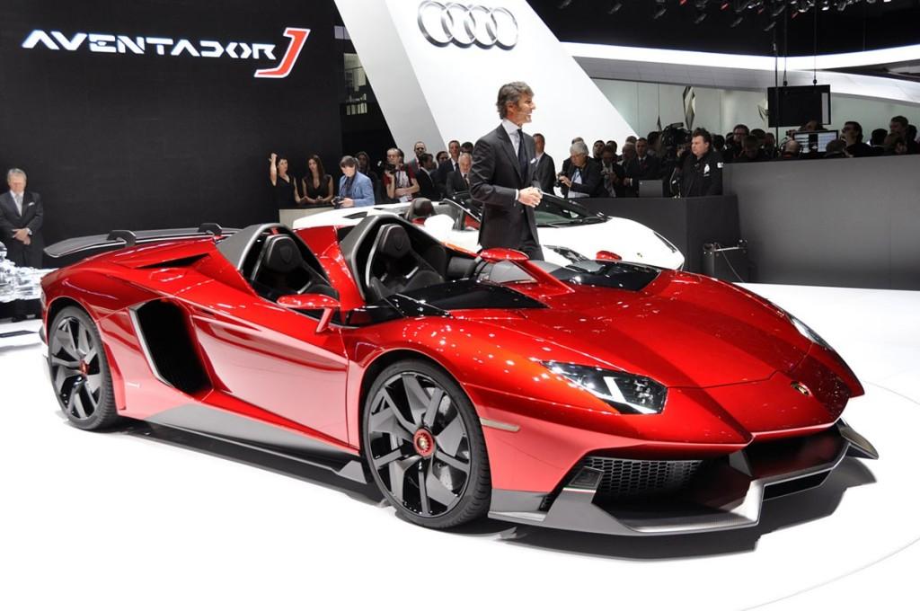 фото авто без лобового скла, Lamborghini Aventador J