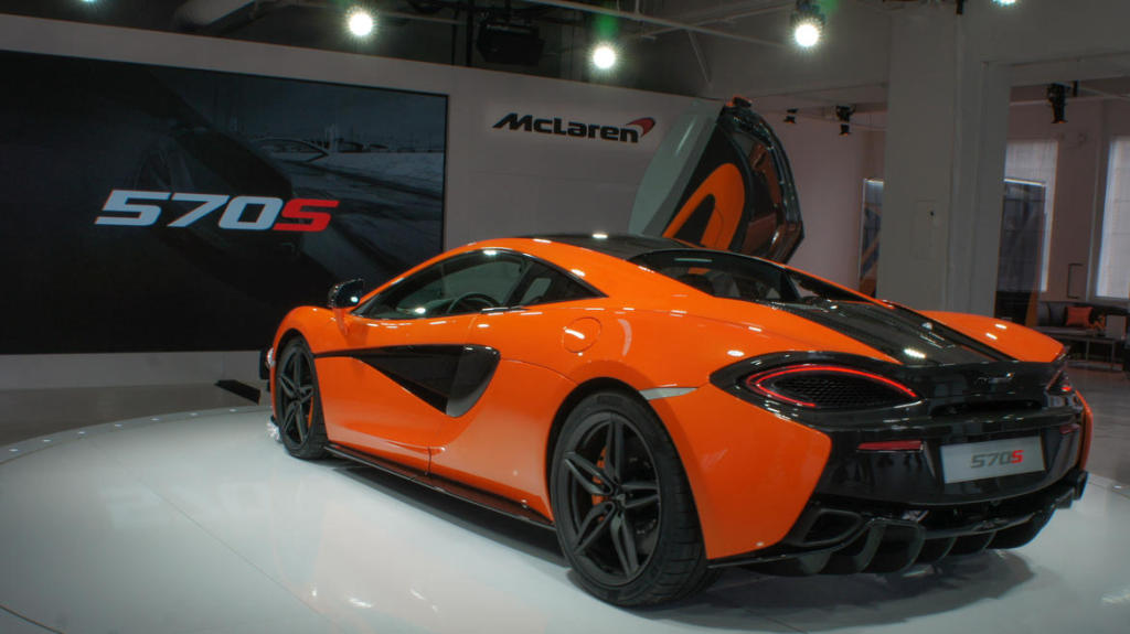 фото McLaren 570S 2015, New-York car show, Нью-Йоркське автошоу, Porsche 911 Turbo S, Audi R8 Plus