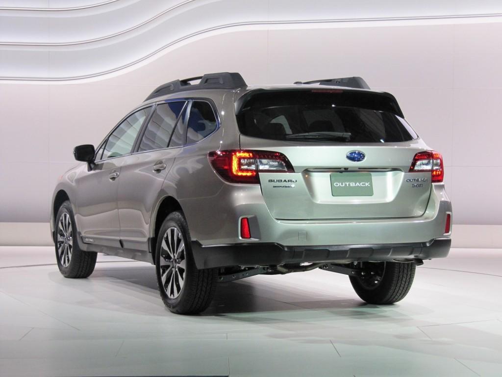 фото Subaru Outback 2015, 85 Женевський автосалон, задок, back, X-mode