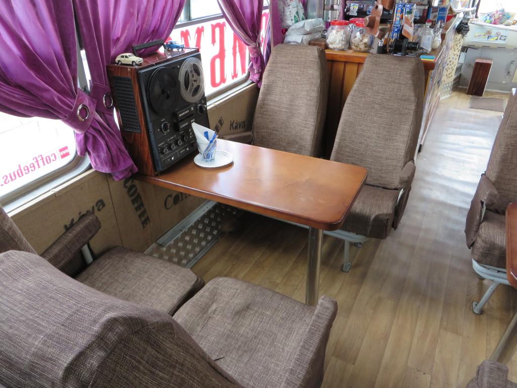 фото ЛАЗ-695Б, кофейбус-2, столик