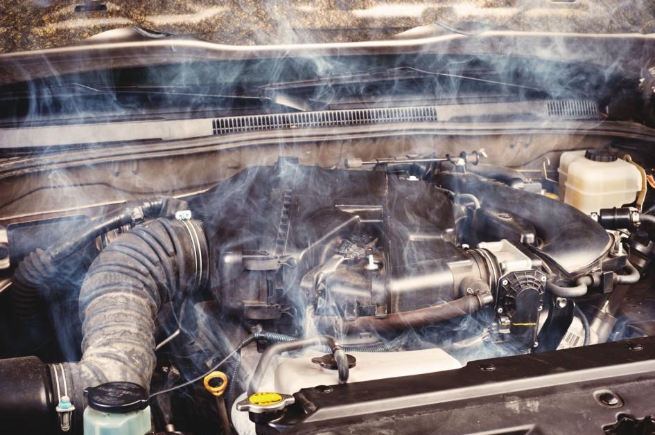 фото перегрів двигуна, випускний клапан, термостат, вентилятор, тосол