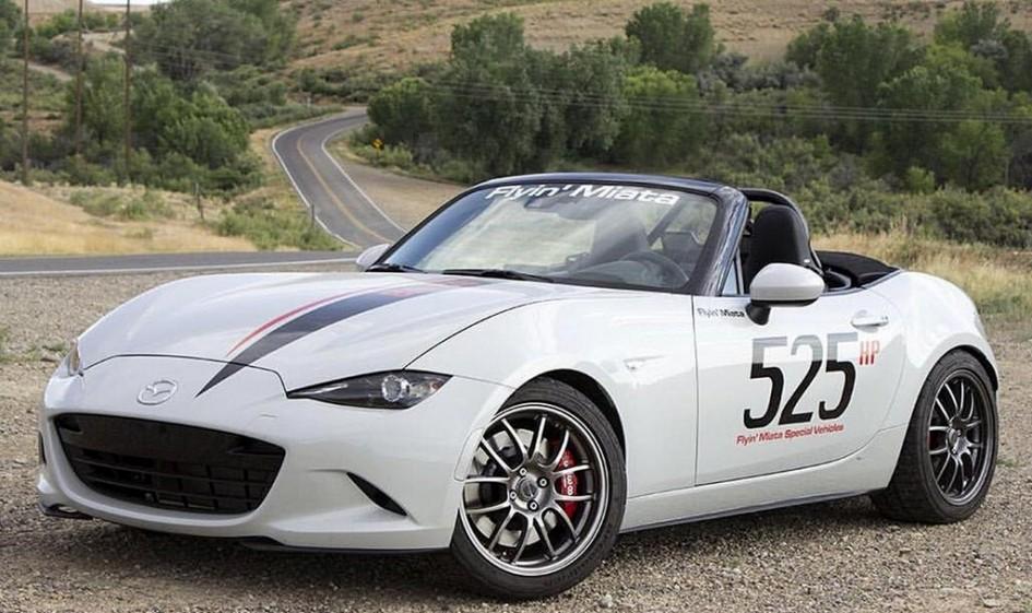 Mazda MX-5 Miata, Porsche 911, Flyin' Miata, Chevrolet Corvette