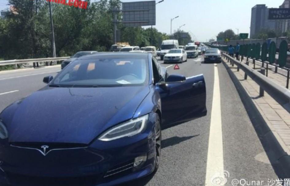 Tesla Model S crash in China