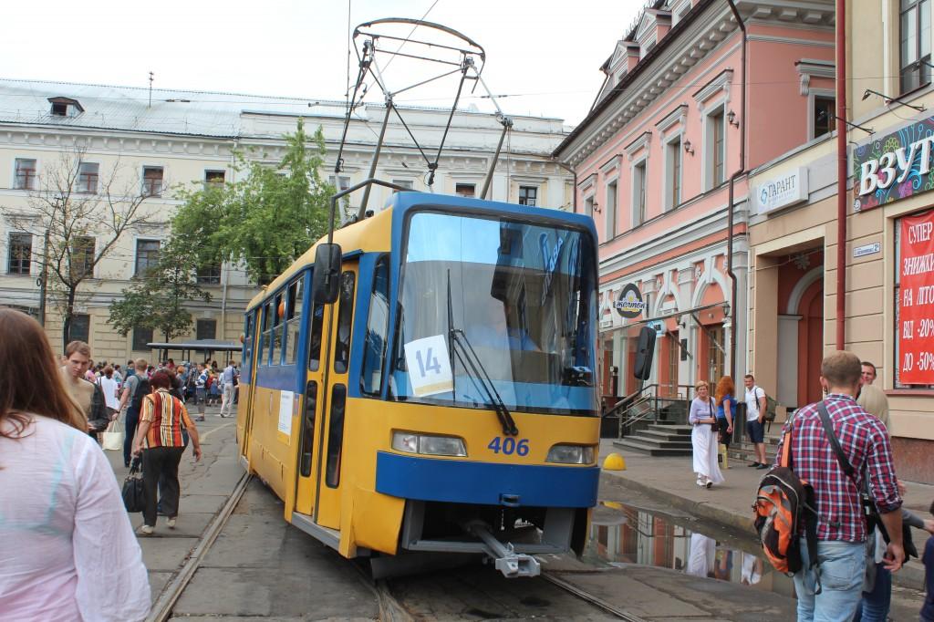 Parad trams 125 years Kyiv, K3R-N, парад трамваїв