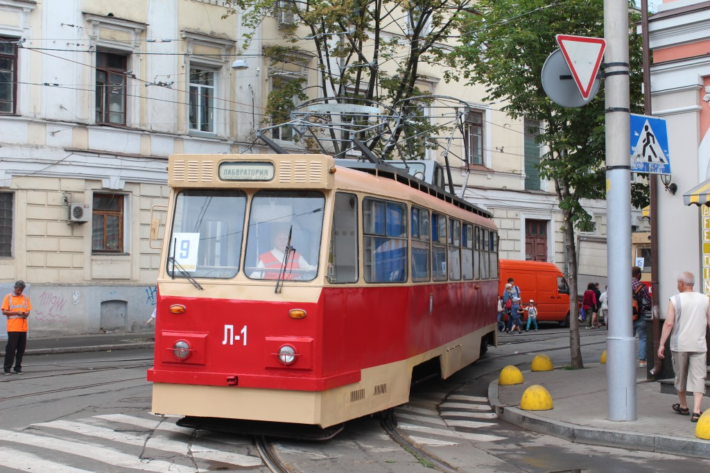 Parad trams, 125 years Kyiv, парад трамваїв