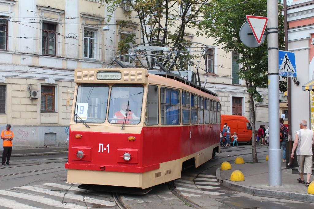 Parad trams, 125 years Kyiv, парад трамваїв