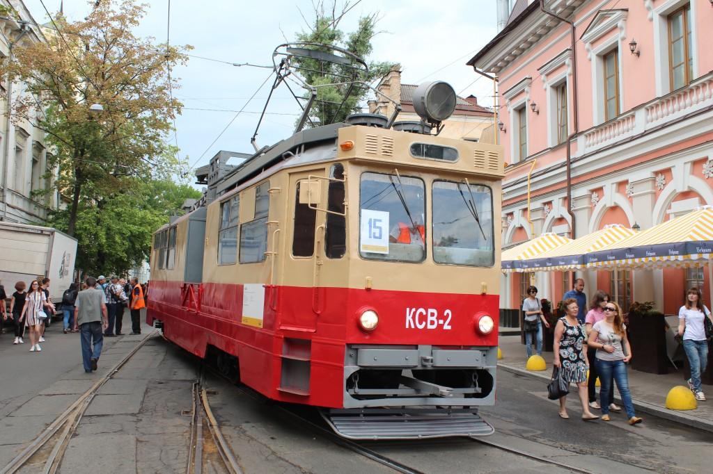 Parad trams 125 years Kyiv, КСВ-2, парад трамваїв