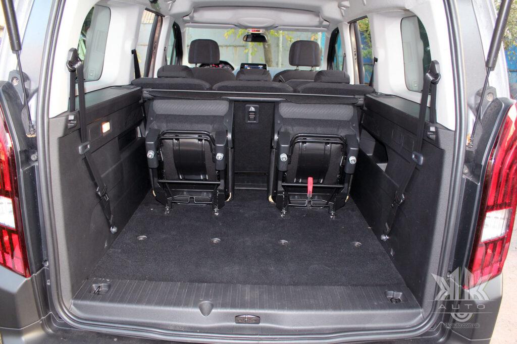 Тест-драйв Peugeot Rifter, багажник