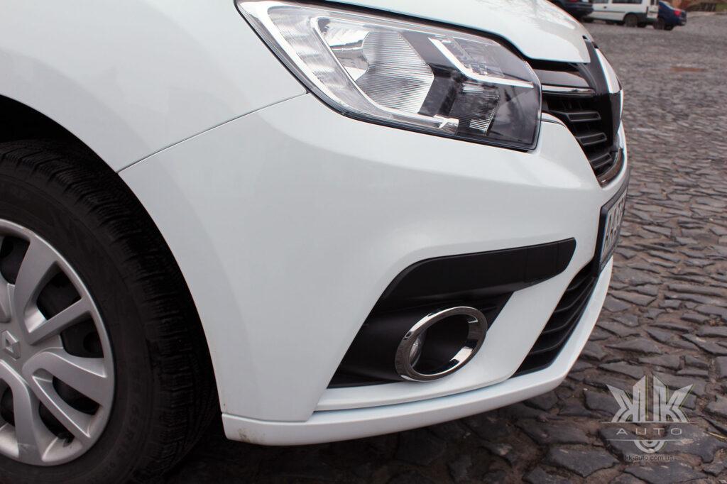 Тест-драйв Renault Logan, передній бампер